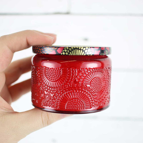 Petite Embossed Candle - Goji Tarocco Orange
