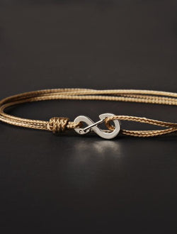 Taupe Infinity Bracelet
