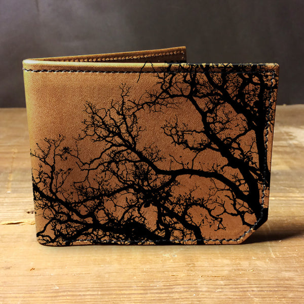 Backerton Leather Wallet - Trees