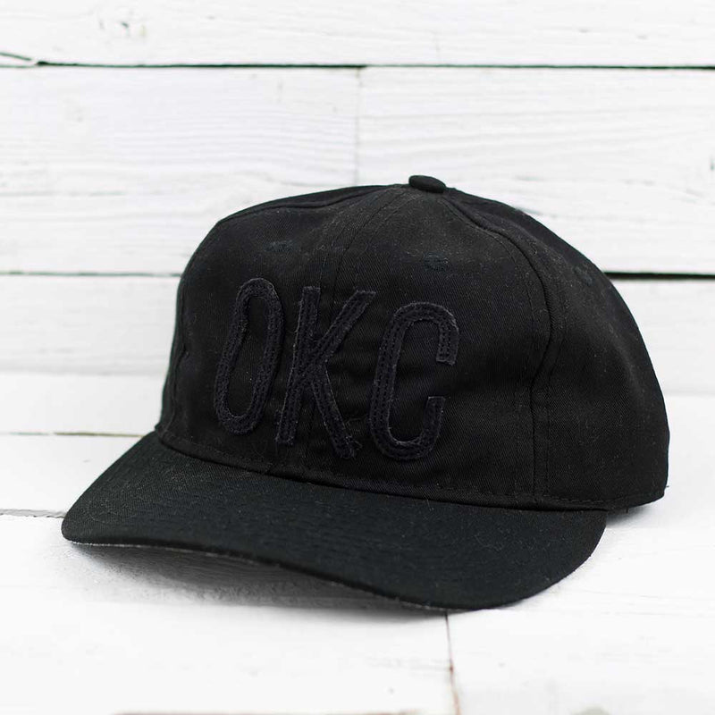 Ebbets Black OKC Cotton Twill Snapback