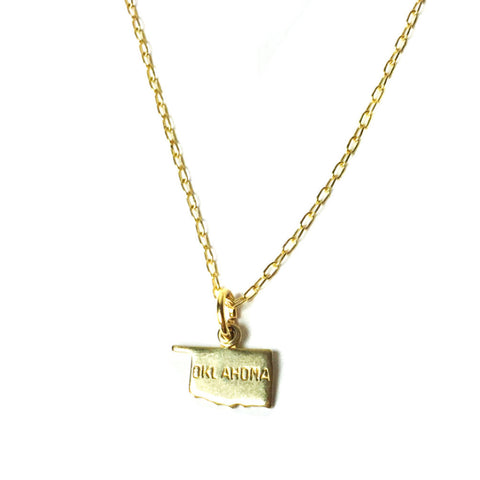 Gold Oklahoma Necklace