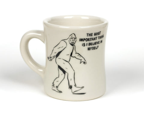 Believe in Yourself Bigfoot Mug