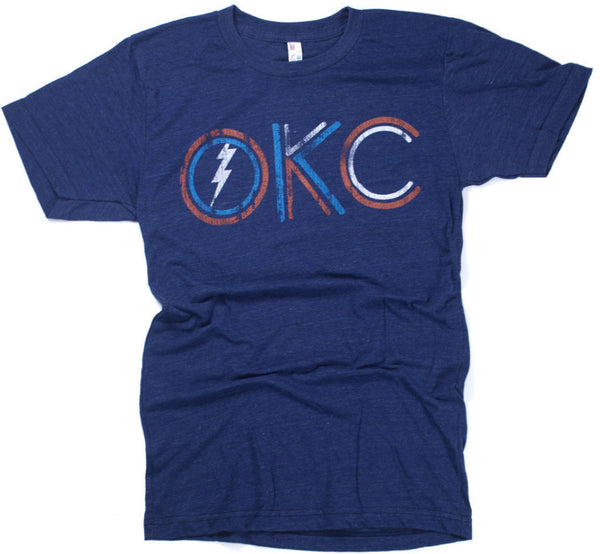 Double Lines OKC Navy Tee