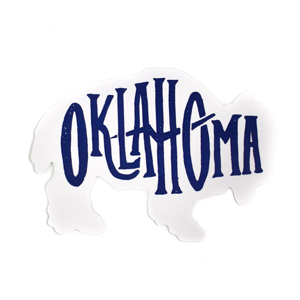 Oklahoma Bison Sticker