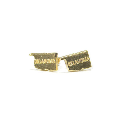 Gold Oklahoma Stud Earrings