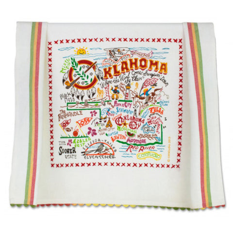 Oklahoma Map Dish Towel