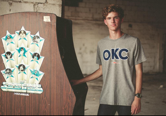 OKC Bolt Grey Tee