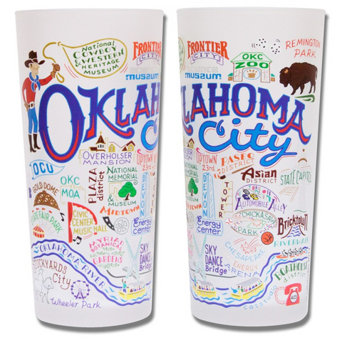 Oklahoma City Map Glass