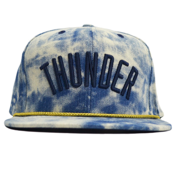 The OKC Thunder Acid Wash Snapback Hat