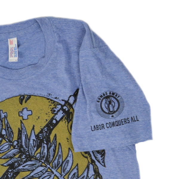 Osage Shield Blue Crew Neck Tee