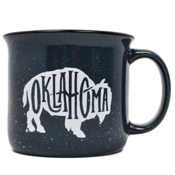 Campfire Grey Speckle Bison Mug