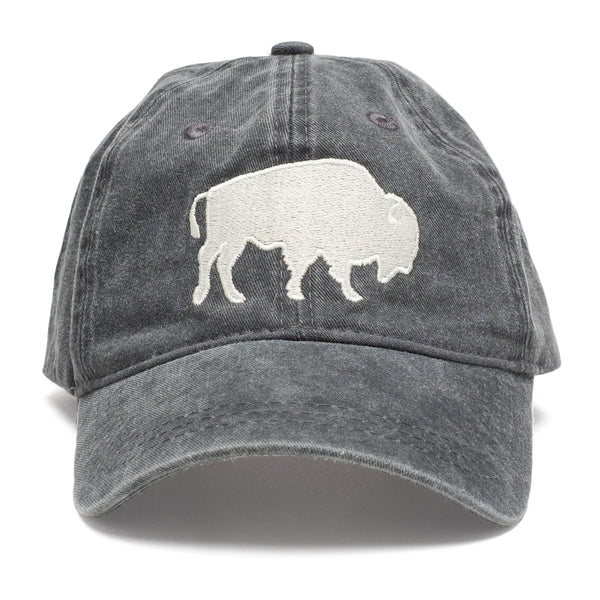 Bison Stitch Charcoal Hat