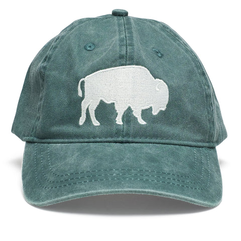 Bison Stitch Hunter Green Hat