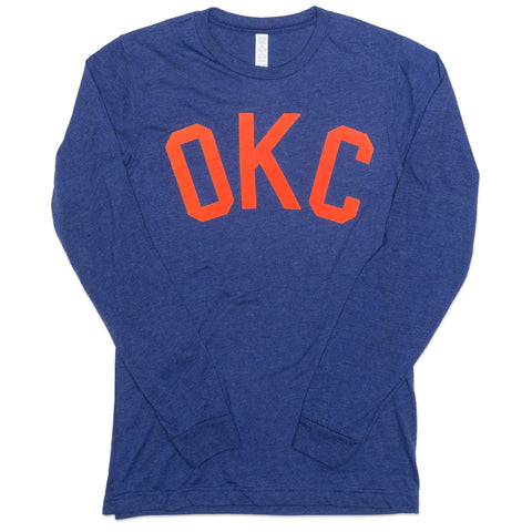 Flocked OKC L/S Tee