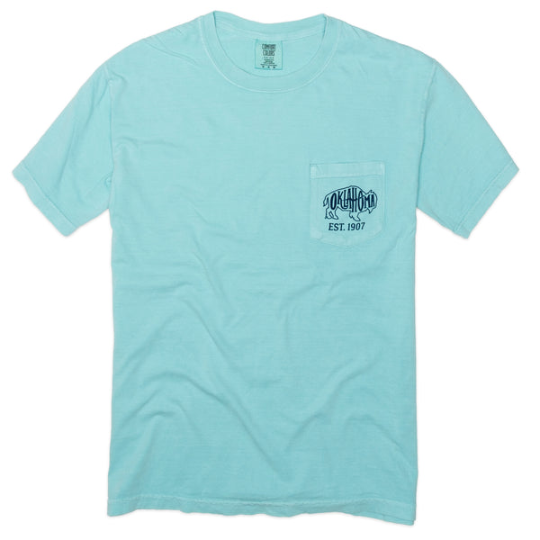 Bison Oklahoma Outline Pocket Tee