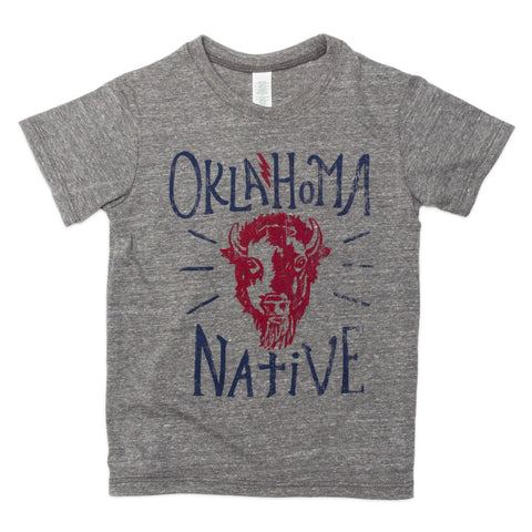 OK Native Grey Kids Tee