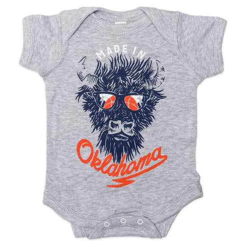 Made in Oklahoma Bison Onesie