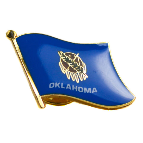 Oklahoma Flag Lapel Pin