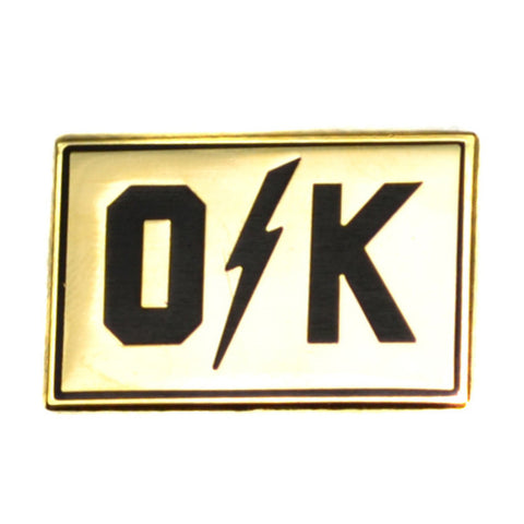O Bolt K Gold Lapel Pin