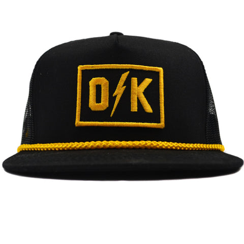O Bolt K Black Trucker Hat