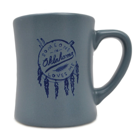 Someone in OK Grey/Navy Mug