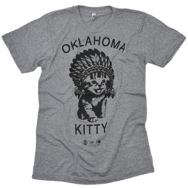 OK Kitty Grey Tee