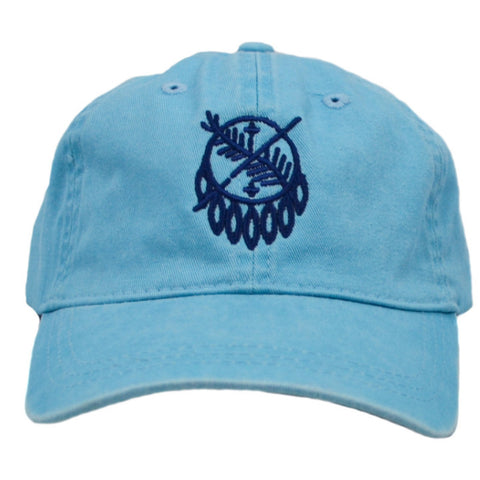 Osage Stitch Caribbean Blue Adjustable Hat