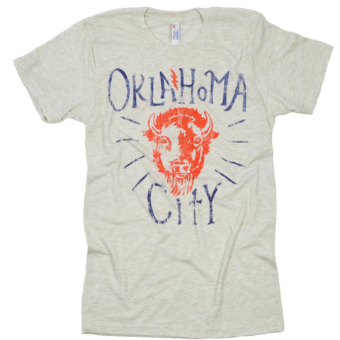 OKC Native Oatmeal Tee