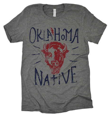 OK Native Grey Tee