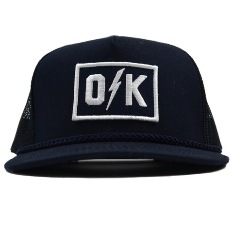 O Bolt K Navy Trucker Hat