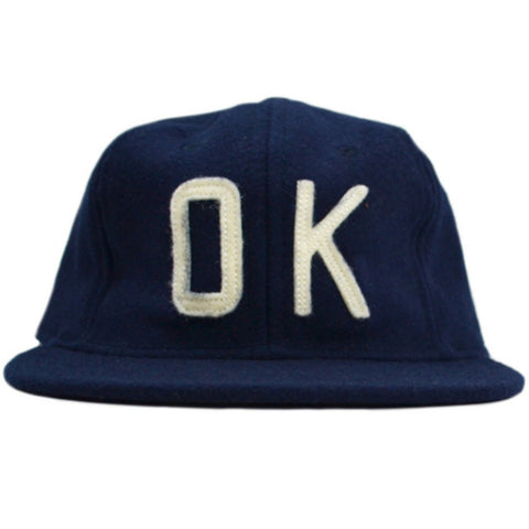 Ebbets Field Co. OK Navy / White Snapback Hat