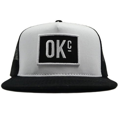 OKc Black Trucker Hat