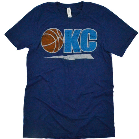 OKC Basketball + Bolt Navy Tee