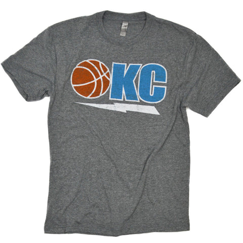 OKC Basketball + Bolt Grey Tee