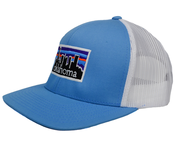 Just OK Blue Skyline Adjustable Hat