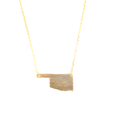 Oklahoma Gold Plated Brass Necklace