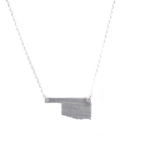 Oklahoma Silver Plated Brass Necklace