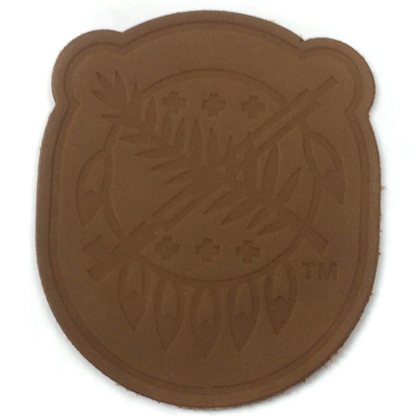 Brown Leather Osage Shield Patch