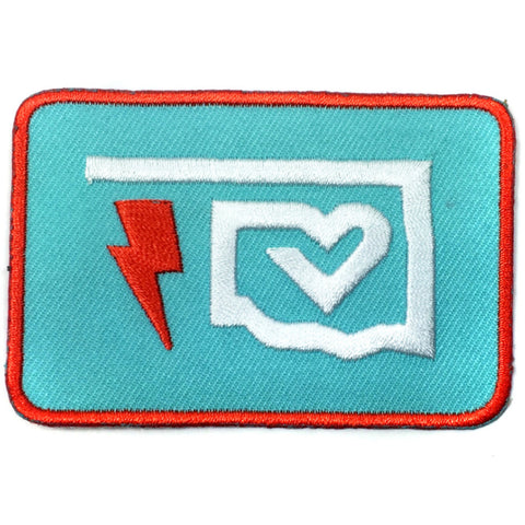 Oklahoma Thunder Heart Patch