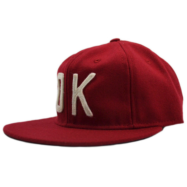 Ebbets Field Co. OK Red / White Snapback Hat