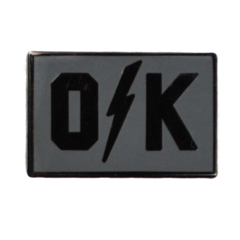 O Bolt K Silver Lapel Pin