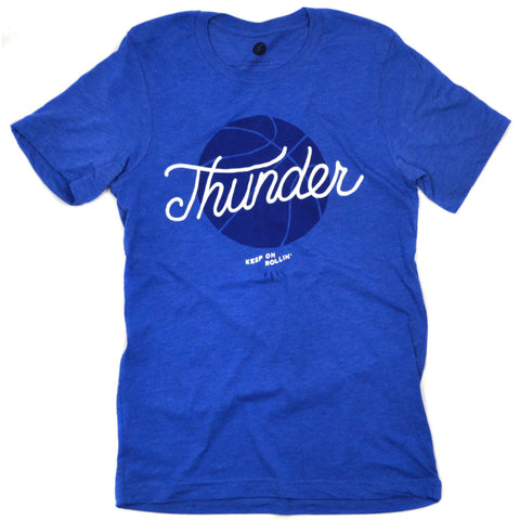 Thunder Basketball Royal Tee