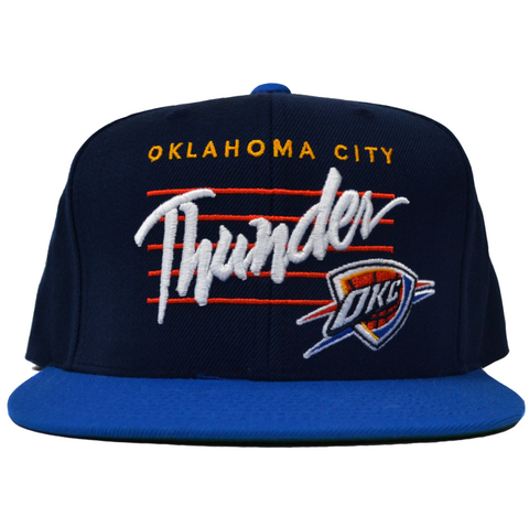 Thunder Cursive Navy Adjustable Hat