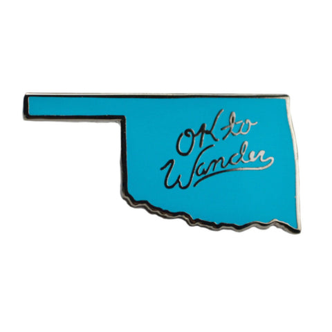 OK to Wander Blue Lapel Pin