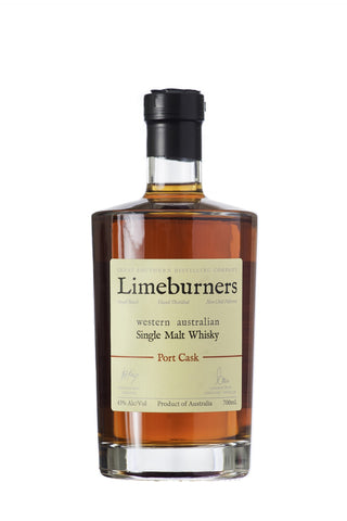 Limeburners Single Malt Whisky Port Cask 43% (700ml) - Audacity Wines