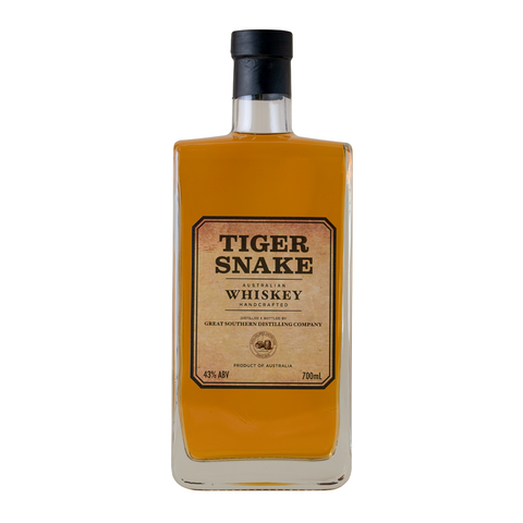 Tiger Snake Australian Whiskey 43% (700ml) - Audacity Wines