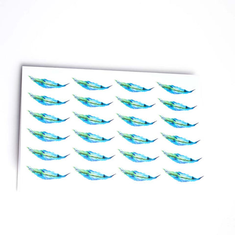 MULTI FEATHER GREETING CARD