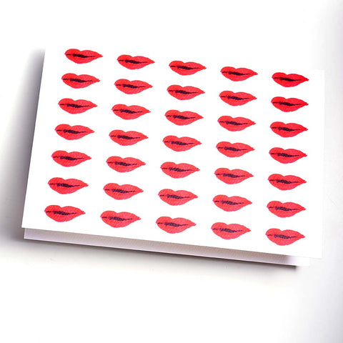 MULTI LIPPY GREETING CARD