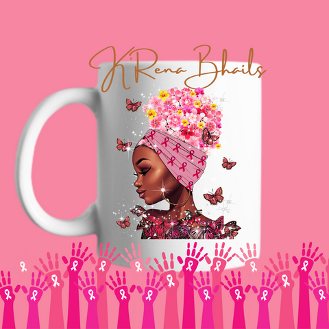 BREAST CANCER BUTTERFLY MUG
