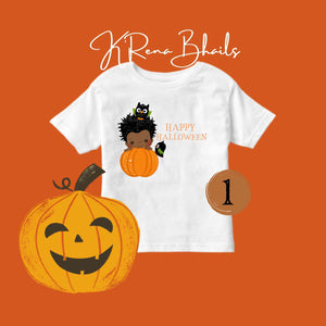 BOYS PUMPKIN SHIRT & BABY BODYSUIT